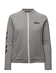 HMLKATE ZIP JACKET - GREY MELANGE