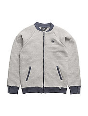 HMLJACE ZIP JACKET - GREY MELANGE
