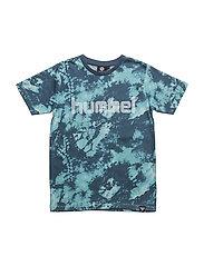 HMLBENJAMIN T-SHIRT S/S - MILKY BLUE
