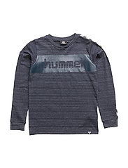 HMLCARSON T-SHIRT L/S - BLUE NIGHTS