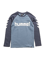 HMLNOLAN T-SHIRT L/S - BLUE MIRAGE