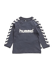 HMLRYAN T-SHIRT L/S - BLUE NIGHTS/BLUE NIGHTS