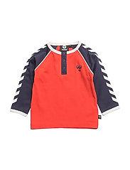 HMLRETRO T-SHIRT L/S - FIERY RED