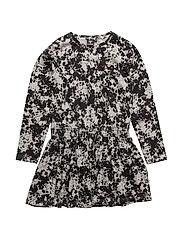 DARA DRESS - CREME/BLACK