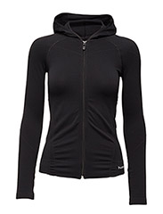 SUE SEAMLESS ZIP JACKET - BLACK