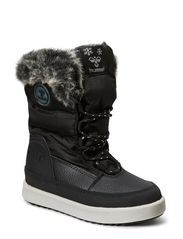 HUMMEL SNOW BOOT JR FUR LACE - BLACK