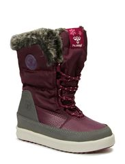 HUMMEL SNOW BOOT JR FUR LACE - PURPLE POTION