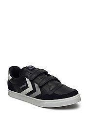 HUMMEL STADIL JR LEATHER LOW - BLACK