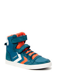 HUMMEL SL STADIL JR LEATHER HI - MALLARD BLUE