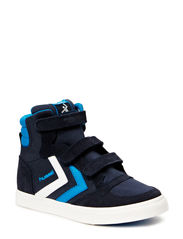 HUMMEL STADIL JR CANVAS HI - DRESS BLUE/BRILLIANT BLUE