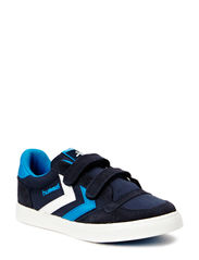 HUMMEL STADIL JR CANVAS LO - DRESS BLUE/BRILLIANT BLUE