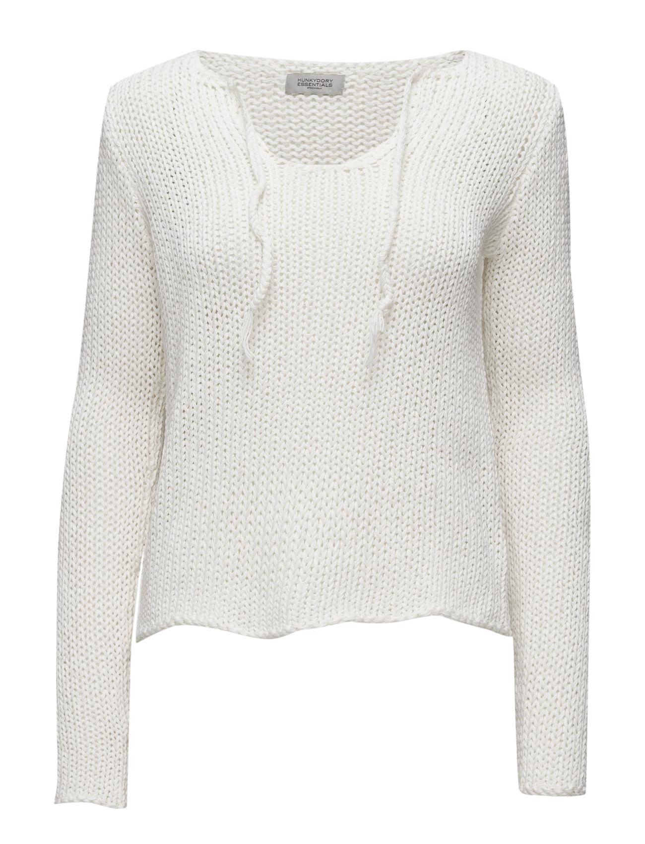 Essentials Banning Knit Hunkydory Sweatshirts til Kvinder i Vintage White