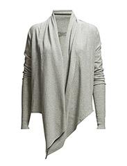Essential Envelop Knit - Light grey melange