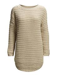 Essential Honeycomb knit - Bone white