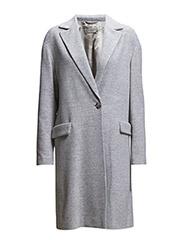 Autumn Top Coat - Light grey melange