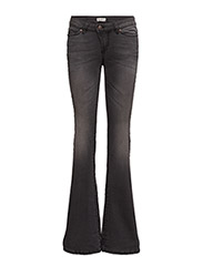 H.D. Flare Denims - BLACK HEAVY WASH NO RIP