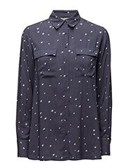 Faye Shirt - INDUSTRIAL BLUE STAR PRINT