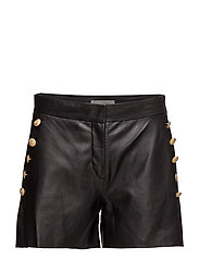 Vail Leather Shorts - BLACK