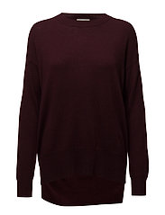 Studded Knit - DARK BURGANDY