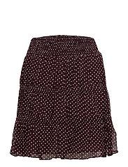 Bert Printed Skirt - DARK BURGANDY