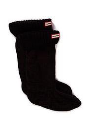 Hunter Half Cardigan Boot Sock - BLACK