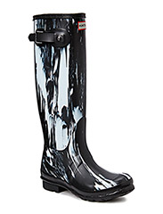 Hunter Women's Original Tall - Black/White