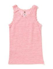 Lace undershirt Oekotex - Fresa pink melange