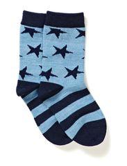 Wool Socks Oekotex - Blue dawn melange