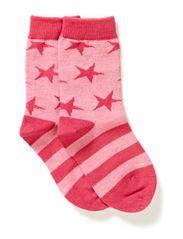 Wool Socks Oekotex - Fresa pink melange