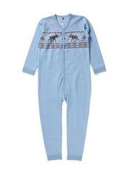 Jump suit  Oekotex - Blue dawn melange