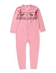 Jump suit  Oekotex - Fresa pink melange