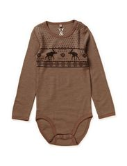 Body stocking  Oekotex - Cub brown