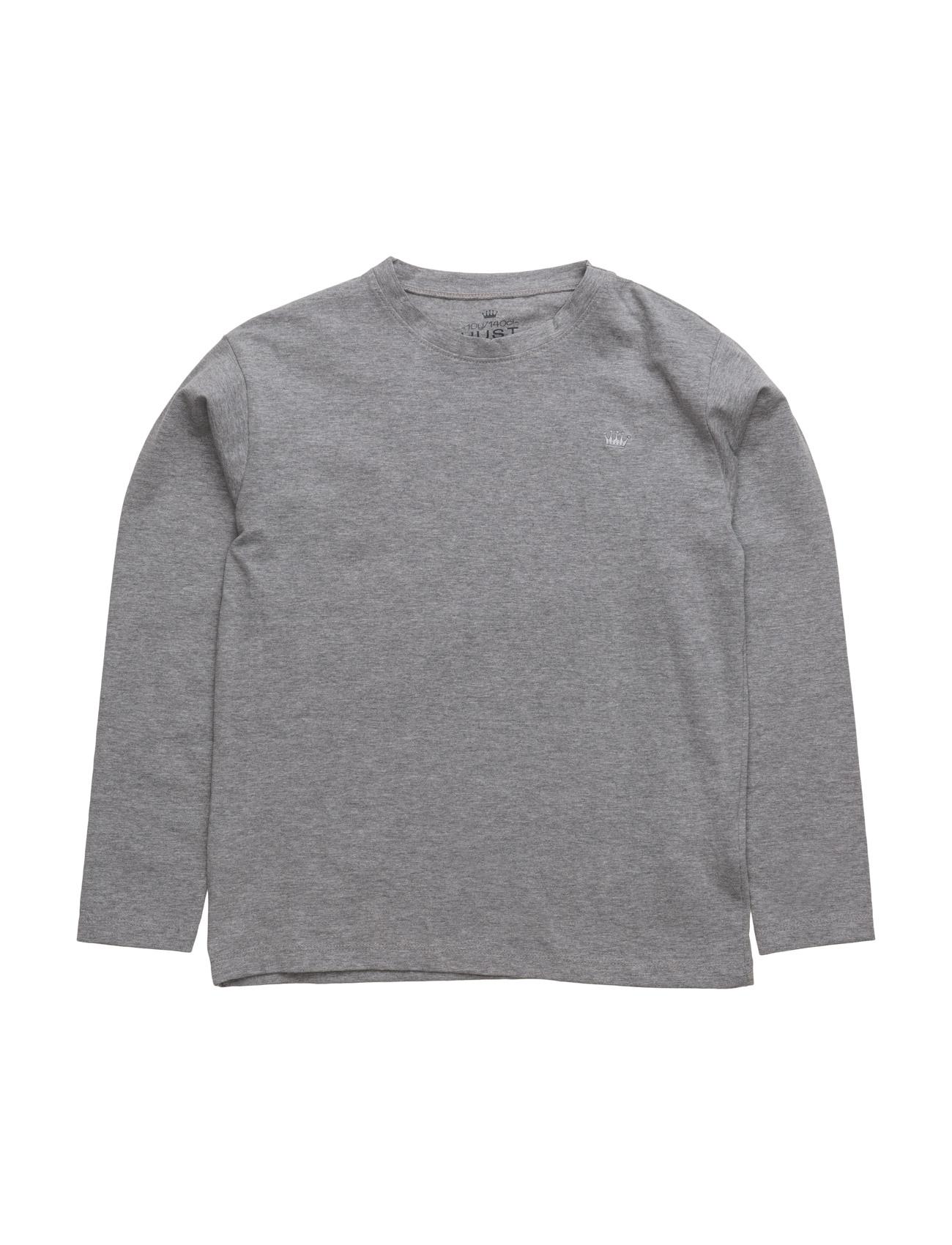 T-Shirt L/S Hust & Claire Langærmede t-shirts til Børn i Light Grey Melange