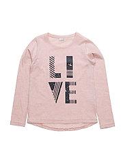 T-shirt L/S - PEACH MELANGE