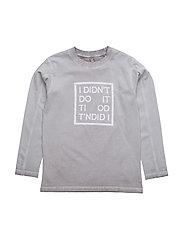 T-shirt L/S - RAW GREY