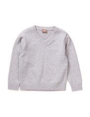 Pullover - Pearl grey melange