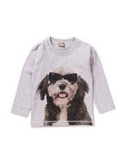 T-shirt L/S - Pearl grey melange