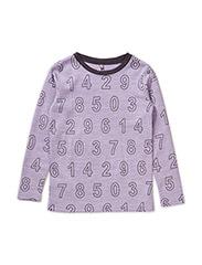 T-shirt L/S - Oekotex - LAVENDER MELANGE