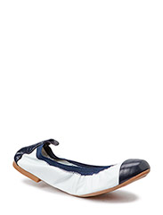 Aicha 2 - White nappa/blue