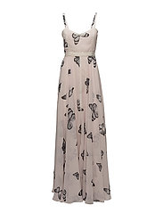 Calista Dress - Soft pink butterfly