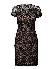 Gloria Dress - BLACK/TAN