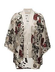 LouLou Kimono - Cream/red