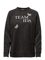 Member Embroidery Sweater - BLACK