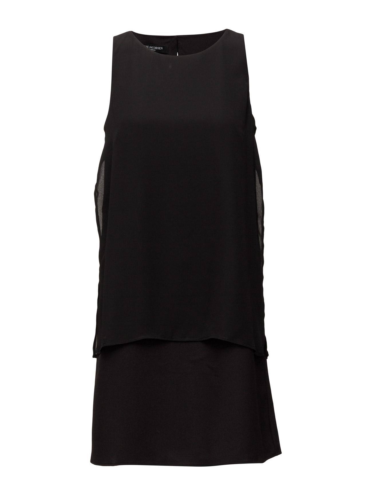 Womens Double Layer Dress Ilse Jacobsen Kjoler til Kvinder i Sort