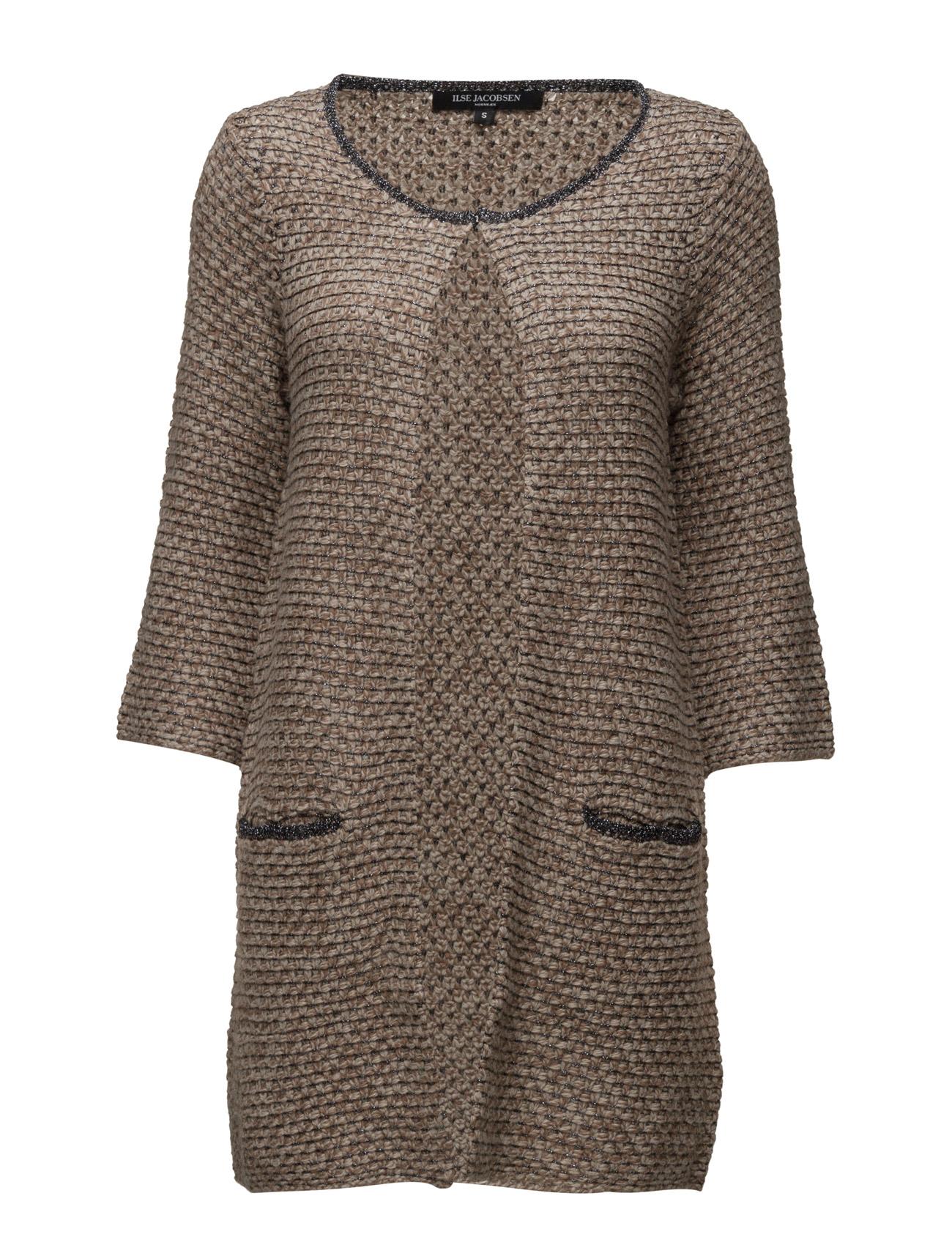 Womens Long Knit Cardigan Ilse Jacobsen Cardigans til Damer i Atmosfære