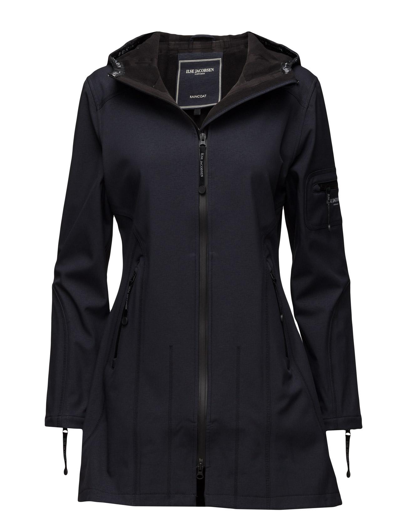 Hip-Length Softshell Raincoat Ilse Jacobsen Regntøj til Damer i indigo