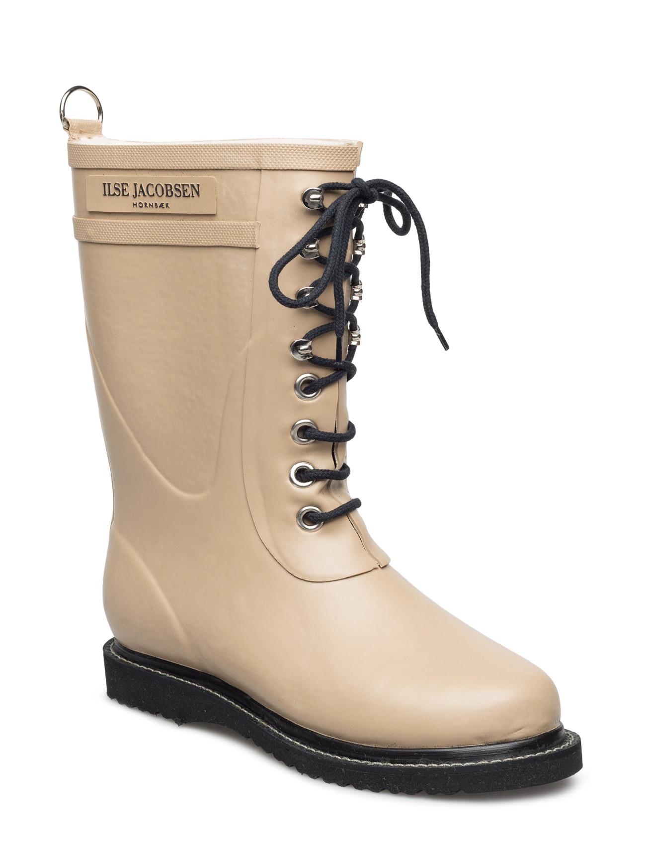 Rain Boot - Mid Calf, Classic With Laces Ilse Jacobsen Støvler til Damer i Kamel