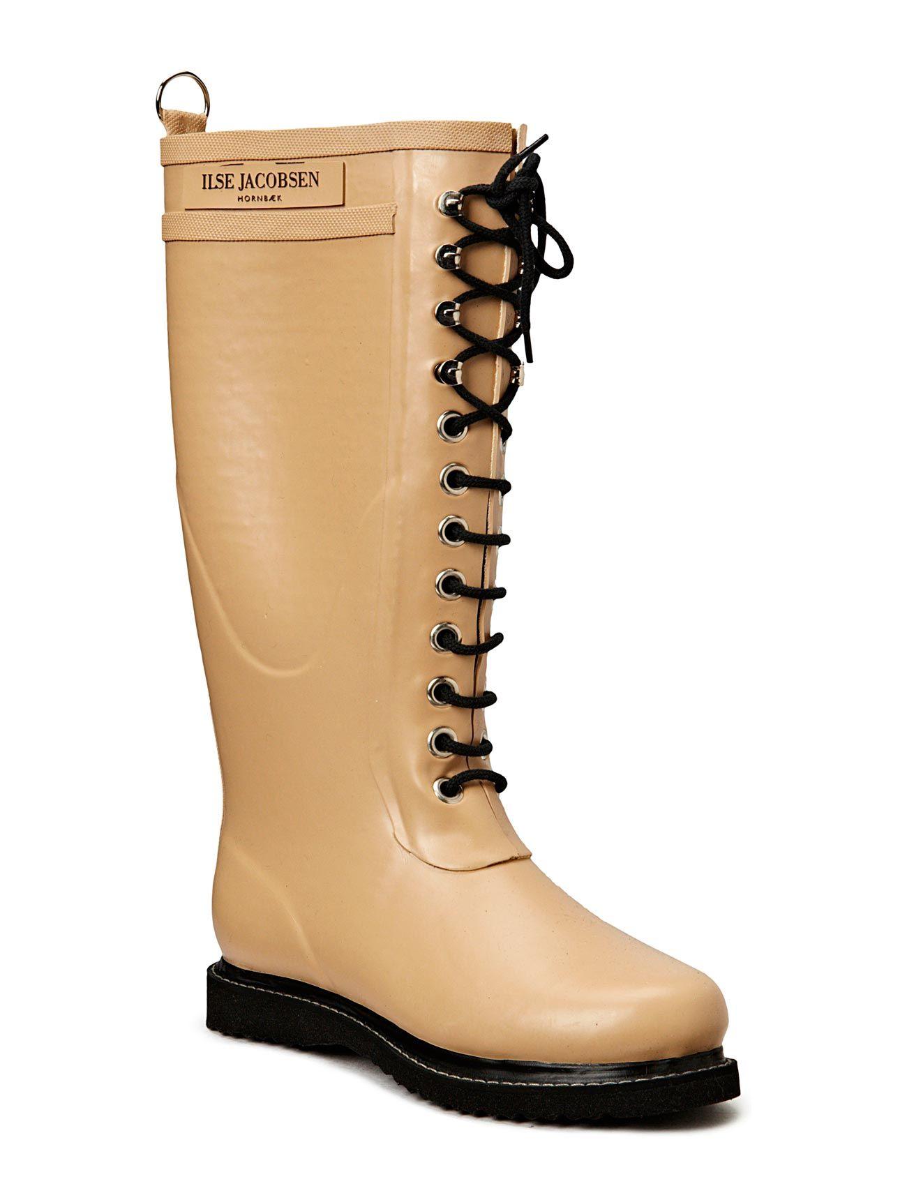 Rain Boot - Long, Classic With Laces Ilse Jacobsen Støvler til Damer i Kamel