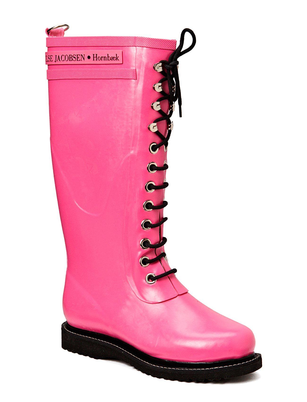 1de16a9fbfa1 Enorma priser på Rain Boot - Long, Classic With Laces Ilse Jacobsen Stövlar  till Kvinnor
