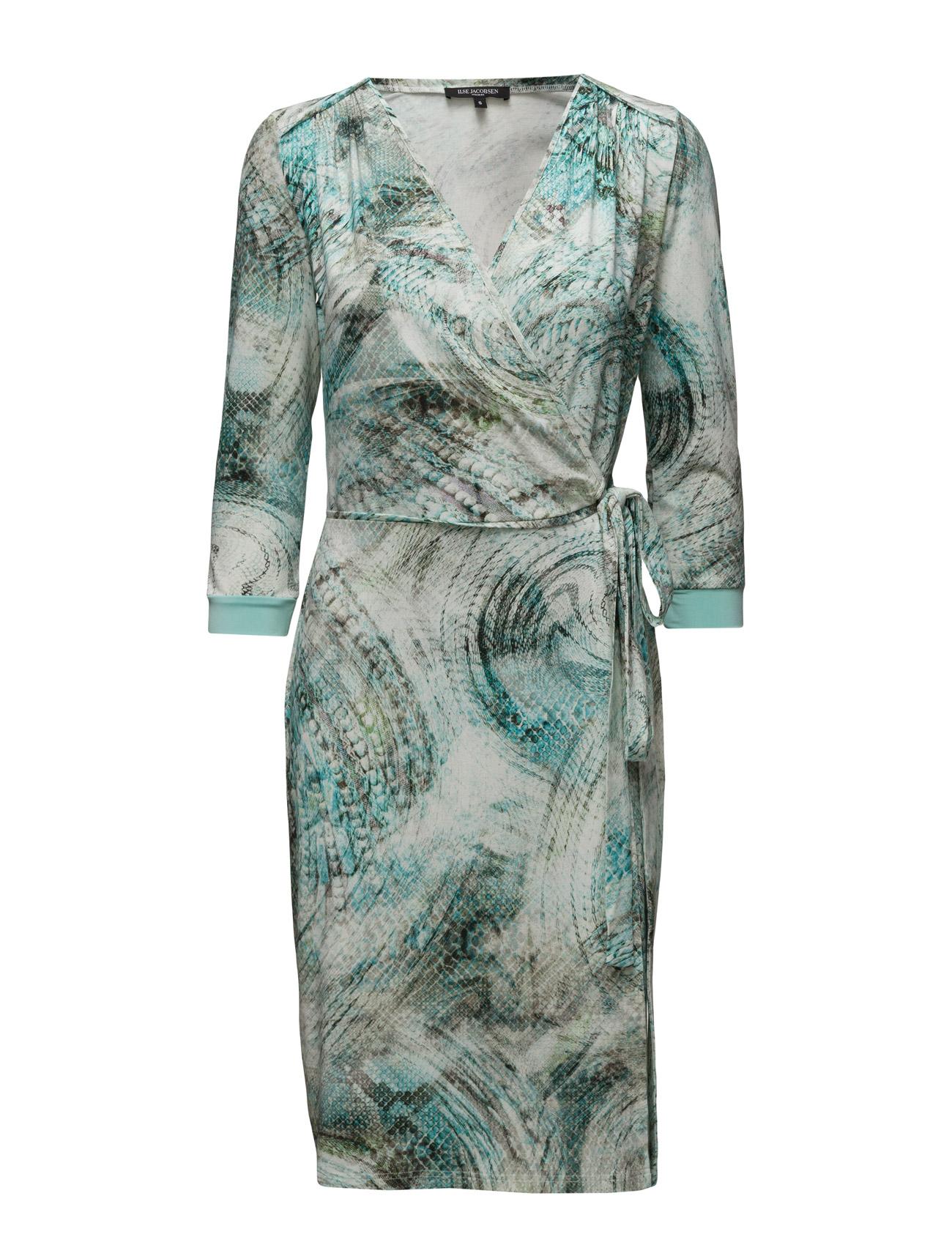 Womens Snake Inspired Dress Ilse Jacobsen Knælange & mellemlange til Kvinder i Sort